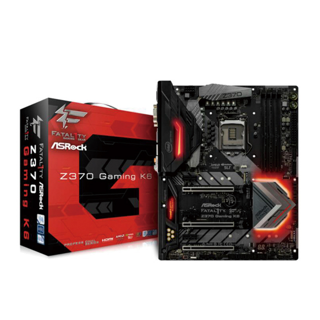 US $310 97 |ASRock Z370 Gaming K6 Game Overclocking Computer Motherboard  ,supports I7 8700K 8600-in Motherboards from Computer & Office on