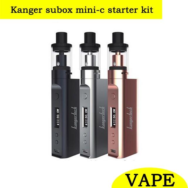 Оригинал kangertech kanger subox mini-c мини c starter kit 50 Вт коробка kox mod жидкостью vape электронная сигарета с protank 5