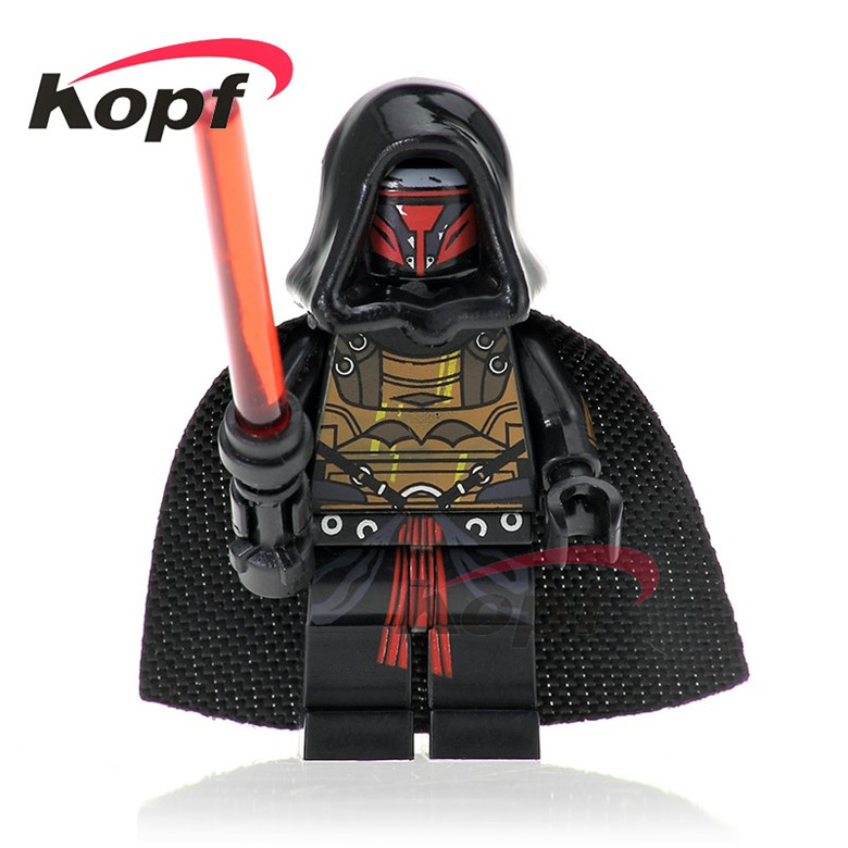 Star Wars Darth Raven With Red Lightsaber Battle of Geonosis Dengar Bounty Hunter Building Blocks Bricks Toys for children PG744
