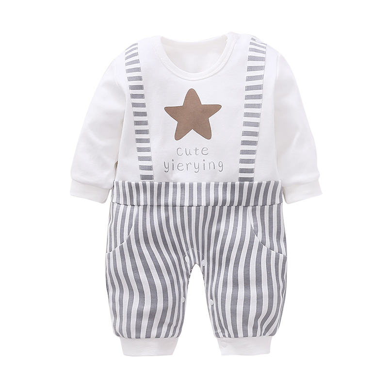 YiErYing high quality Newborn Clothing Baby Star Printing Leisure Baby Boy   Romper   Baby & Toddler Clothing Infant Jumpsuit