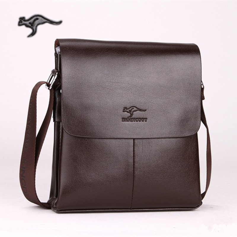 New Arrival Brand men's messenger bag kangaroo shoulder bag Men's leather business bags crossbody bag Free Shipping adidas original new arrival unisex shoulder bag aj9998 aj9997 sports outdoor bags one shoulder free shipping