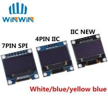 """10 adet 0.96 """"SPI/IIC I2C İletişim beyaz/mavi/sarı mavi 0.96 inç OLED modülü 128X64 OLED lcd ekran modülü ARDUINO için"""