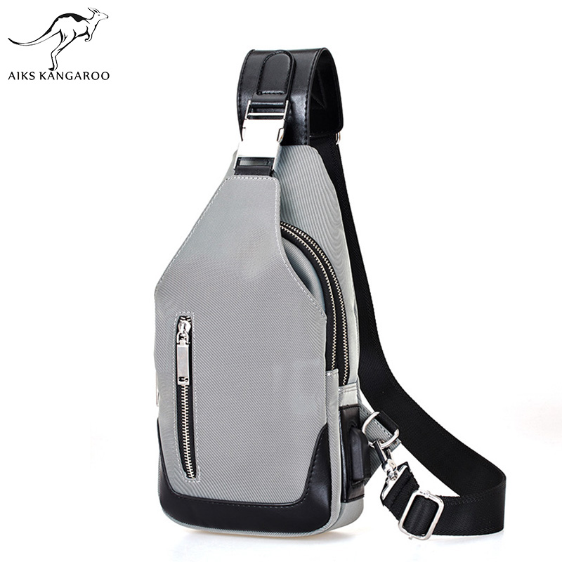 AIKS Kangaroo 2018 Crossbody Pack Bag High Quality Oxford Men's Chest Bag Fashion Men Chest Waist Pack Messenger Shoulder Bags все цены