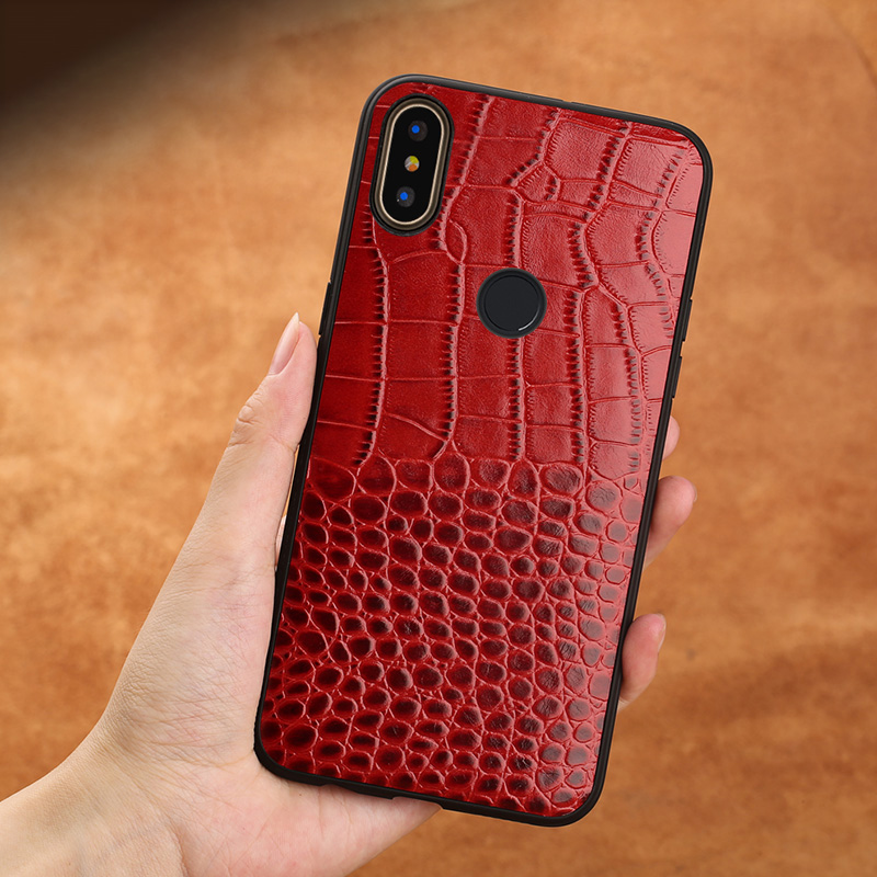 For Xiaomi 8 lite Phone Case for xiaomi Mi 8 9 9T A1 A2 A3 lite case for Max 3 Mix 2s 3 Redmi Note 5 6 7 Crocodile Texture Cover in Fitted Cases from Cellphones Telecommunications