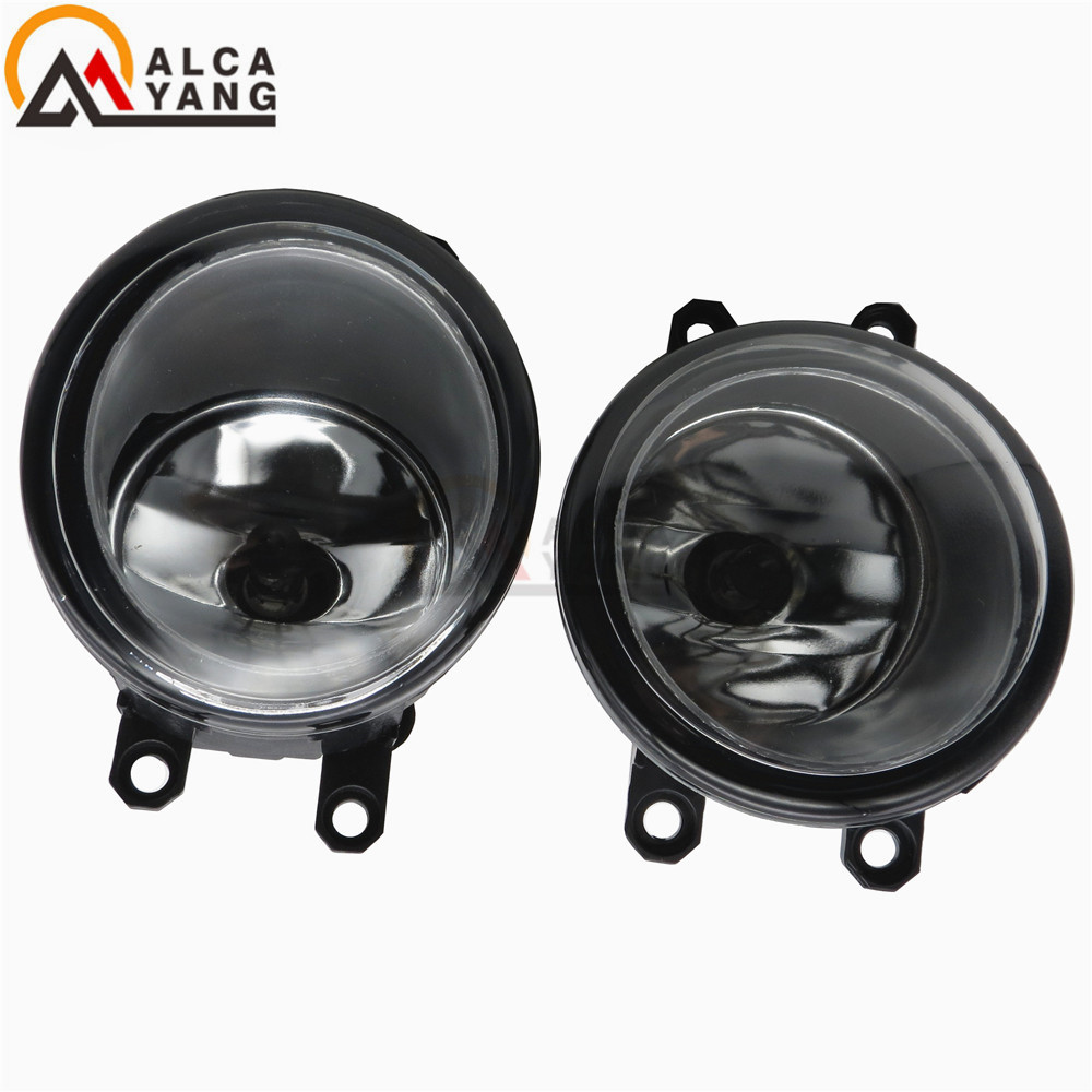 Malcayang Angel Eyes Lights DRL For TOYOTA Hilux 2010-2014 Fog Lamps 1 SET 81210-06052 2016 2017 for toyota hilux chrome accessories front tail lights cover for toyota hilux basic versions car hilux ycsunz