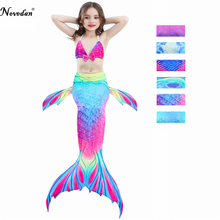 4522aea67 Nuevo 2018 la sirenita cola disfraz princesa Ariel niños sirena cola  Cosplay niños para chica traje de baño elegante conjunto de.