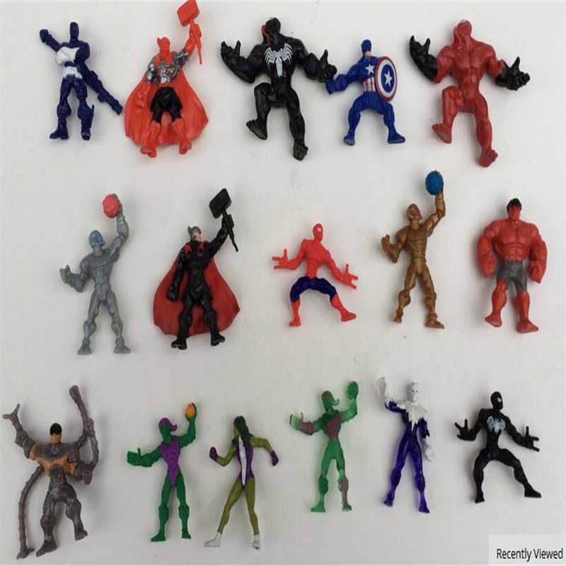 Super heróis capitão américa ironman homem aranha hulk thor super-herói figura de ação brinquedos