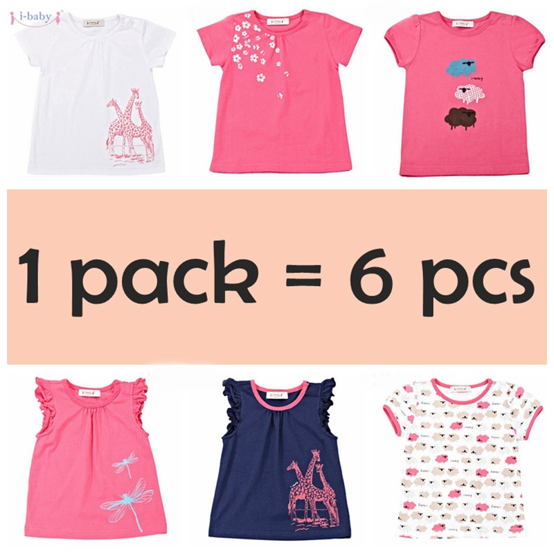 i-baby 1-6pcs/set Cotton Baby   Rompers   Infant Jumpsuits Newborn Boys Girls Roupas de bebe Baby Clothes
