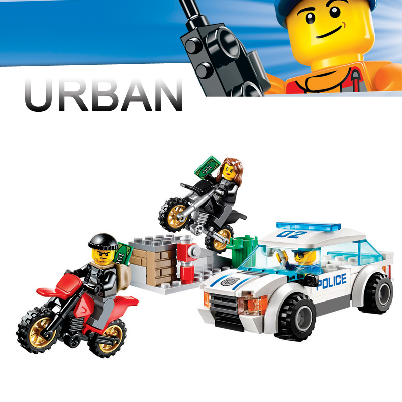 Bela Compatible with Legoe City Police 60042 128PCS+ Urban Motorcycle Pursuit Buidling Blocks Bricks 2018 New Toys For Boys bela city police crook pursuit building blocks classic for girl boy kids model toys marvel compatible legoe