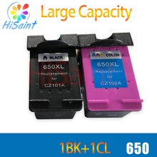 hisaint 650 650XL Ink Cartridge For HP 650 compatible CZ101A CZ102A for hp Deskjet 1015 1515 2515 2545 2645 3515 4645 Printer