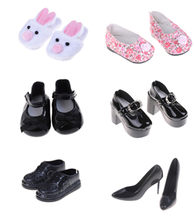 1 Pair Multy Styles Shoes For BJD Doll 18 Inch Girl Doll For Baby Gift 43cm Baby Doll Accessories Birthday Gift(China)