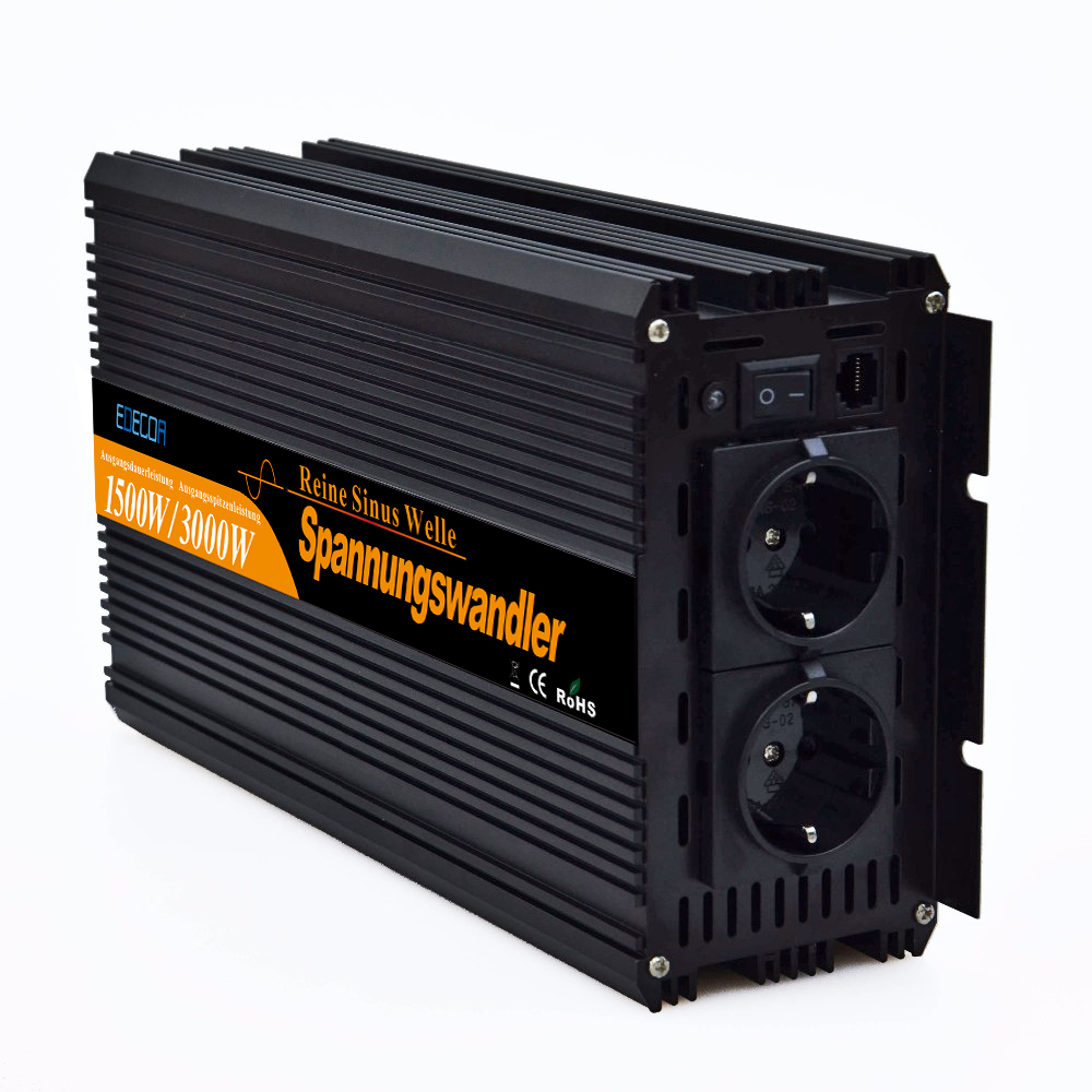 Image 3 - 12V 220V pure sine wave power inverters 1500w 3000w peak  converters with Remote control-in Inverters & Converters from Home Improvement