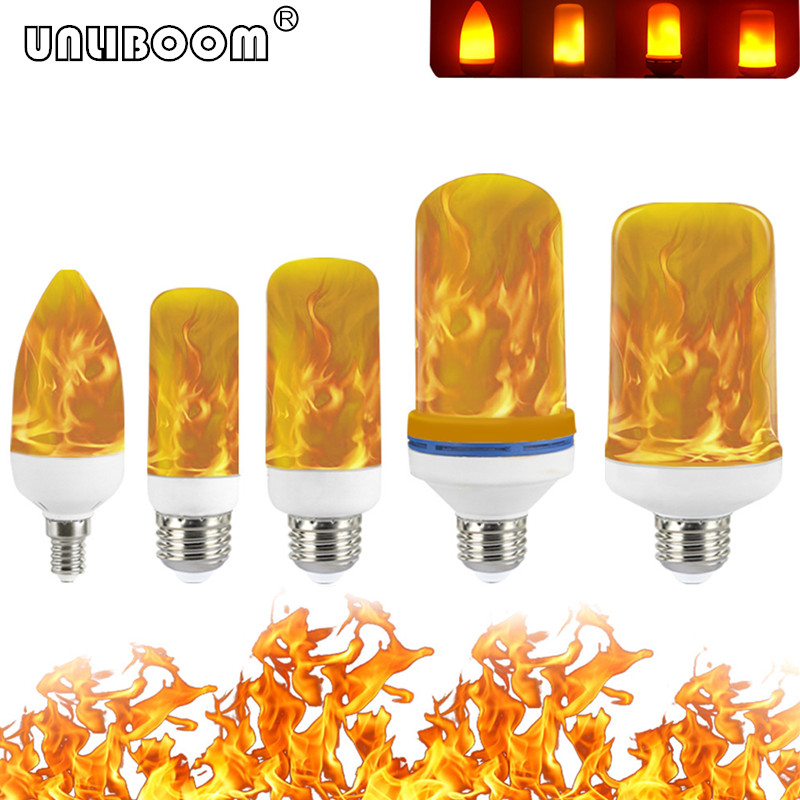 B22 E27 E26 E14 E12 LED Flame Bulb 85-265V LED Flame Effect Fire Light Bulb Flickering Emulation Decor LED Lamp 3W 5W 7W 9W