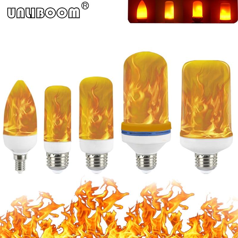 B22 E27 E26 E14 E12 LED Flame Bulb 85-265V Effect Fire Light Flickering Emulation Decor Lamp 3W 5W 7W 9W