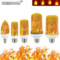 B22 E27 E26 E14 E12 LED Flame Bulb 85-265V LED Flame Effect Fire Light Bulb Flickering Emulation Decor LED Lamp 3W 5W 7W 9W