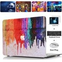 2020 새로운 유화 시리즈 회화 케이스 맥북 에어 프로 레티 나 터치 바 11 12 13 15 16 인치 색상 노트북 커버 쉘