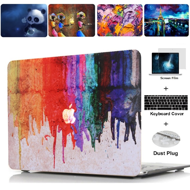 Peinture à l'huile série peinture étui pour macbook Air 11 13 Pro Retina 12 13 15 pouces couleurs tactile Bar bois housse d'ordinateur portable Shell