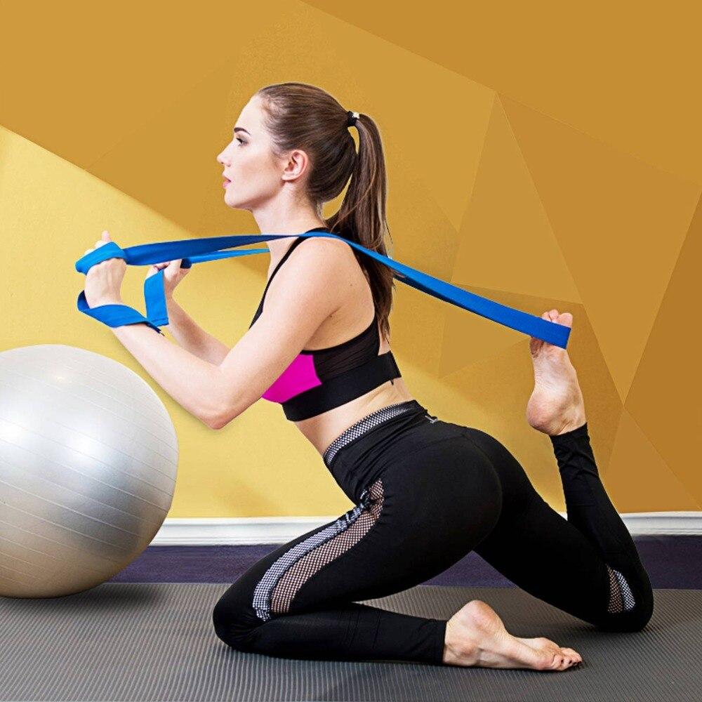 185cm Adjustable Durable Yoga Stretch Strap D-Ring Belt Waist Leg Fitness Straps