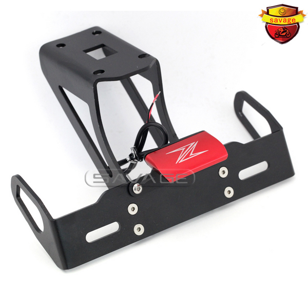 For KAWASAKI Z1000 Z1000SX NINJA 1000 Red Motorcycle Tail Tidy Fender Eliminator Registration License Plate Holder LED Light motorcycle tail tidy fender eliminator registration license plate holder bracket led light for ducati panigale 899 free shipping