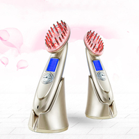 Зарядка через USB Электрический лечения усилилась Гребень вибрационный массаж головы волосы стимулируют рост Кисточки массаж расческа для