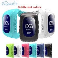 Q50 gps smart kid safe smart watch llamada sos ubicación Monitor de Localizador Del buscador Del Perseguidor para Perdida Anti Del Niño Hijo Bebé reloj de pulsera