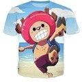 Chegam novas japonês Anime One Piece Tony Tony Chopper 3d t shirt bonito dos desenhos animados Joba camisetas Unisex mulheres homens Harajuku camisetas