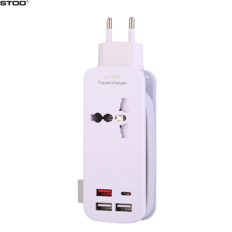 BTOD 4 Port Charger 50W Quick Charge 3.0 Type C USB For iPhone Plus iPad Samsung S6 S7 Edge S8 Huawei P9 Meizu Xiaomi LG Adapter