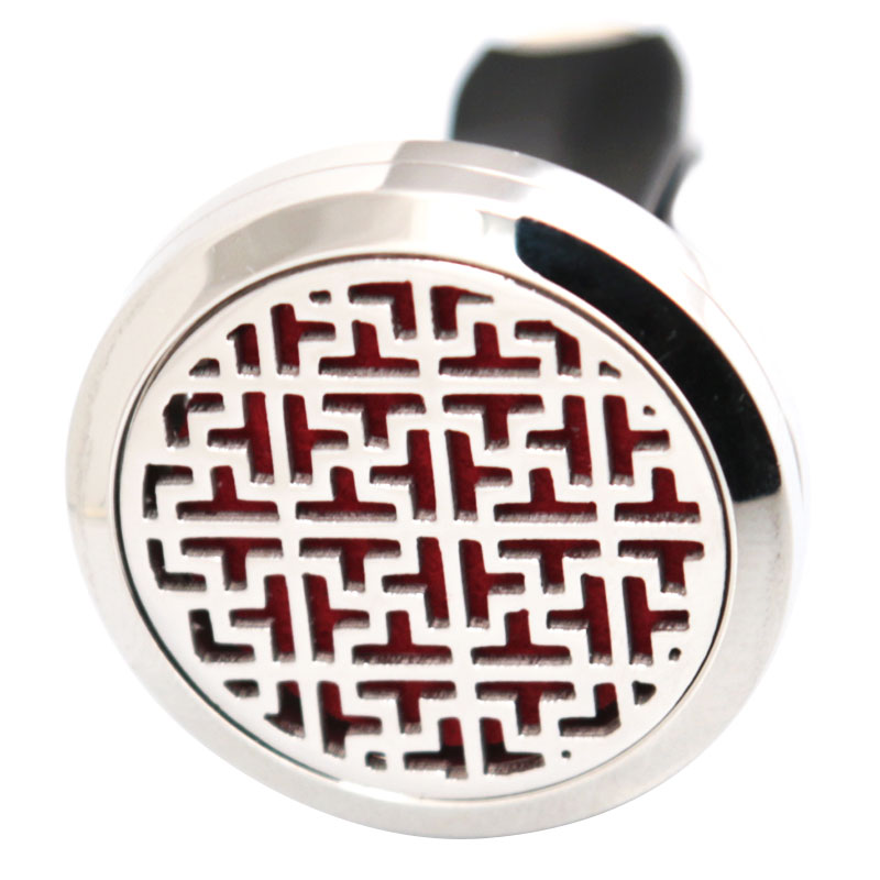 New Design 30mm Diffuser 316 Stainless Steel Car Aroma Locket Essential Oil Car Diffuser Locket Free 50Pcs Felt Pads