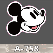 Cute Mickey Mouse waterproof stickers for Home decor Travel Suitcase Wall Bike fridge car sticker Sliding
