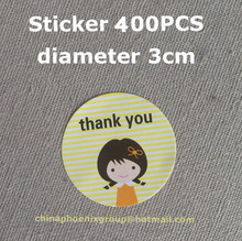 Wholesale gift packaging stickers thank you stickers seal labels with smile face diameter 3cm 400pcs Free shipping