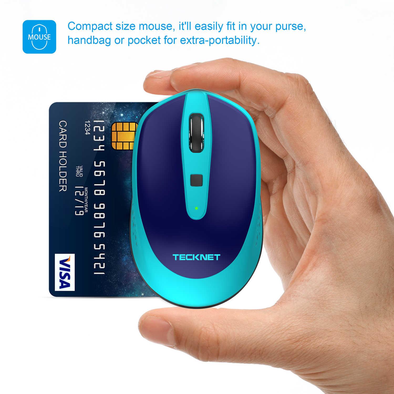TeckNet ワイヤレスマウス 2.4Ghz のコンピュータマウス調節可能な USB 2.0 2000/1500/1000DPI の USB 光エルゴノミックマウスノートパソコン用