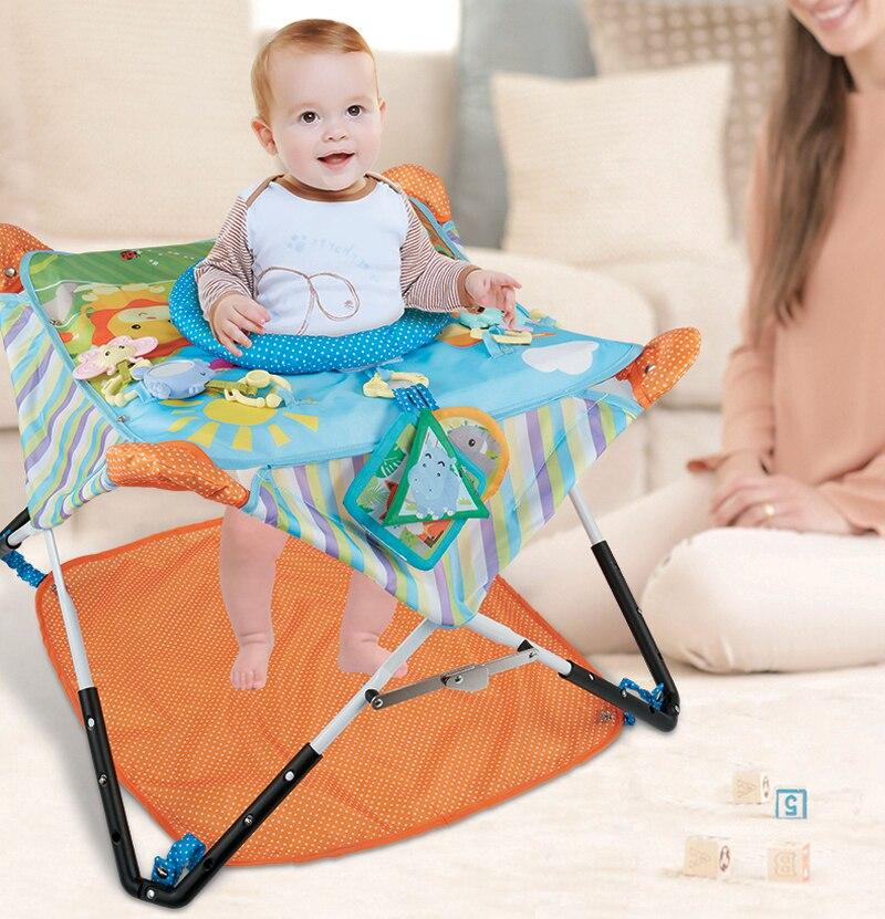 Bébé cavalier multifonctionnel jumperoo bébé marcheur berceau forêt tropicale bébé balançoire avec mobiel chaise rebondissante - 4