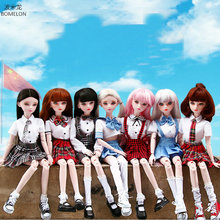 58cm Original 1/3 Bjd Doll Handmade Kawaii School Uniforms Girl Lifelike Dolls Jointed Body Toy Girls Toys Birthday Gift
