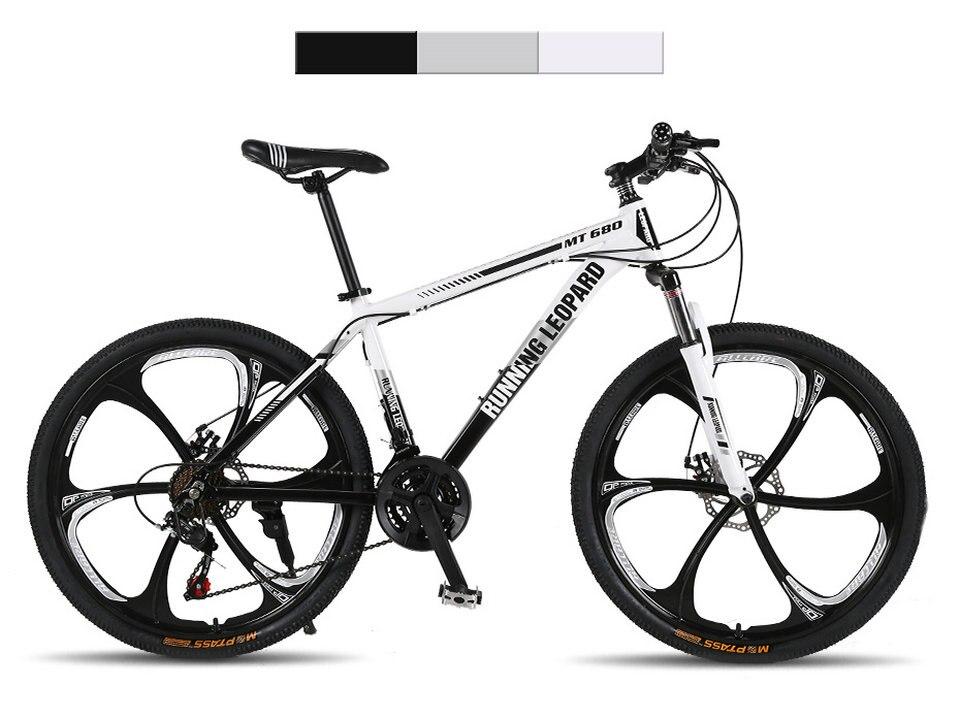 HTB1QZChXiYrK1Rjy0Fdq6ACvVXaK Running Leopard mountain bike 26 inch 21/24 speed bikes aluminum alloy frame mountain bike Mechanical double disc brake bicycle