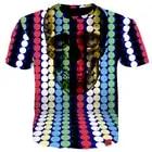 Cloudstyle Crewneck T Shirts Short Sleeved Tshirts 3D Printing t shirt Men Casual Style Tee Shirts Skulls Tracksuits Plus Size