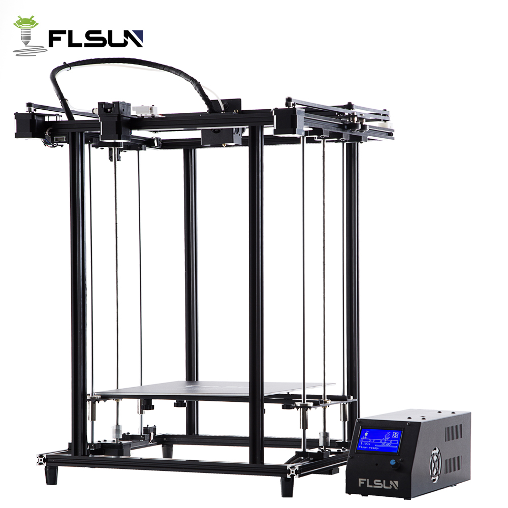 Flsun Pre assembly 3D Printer Metal Structure Large Printing Area 320*320*460mm Dual Z Lead Screw One Roll Filament Gift