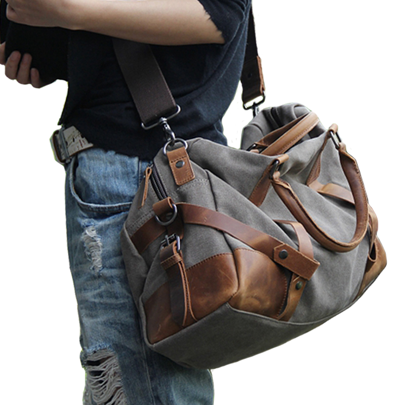 2018 Casual Canvas Men Large Shoulder Bag Vintage Retro Satchel Bag Crossbody Bag For Men Leisure Male Messenger Bags Handbag