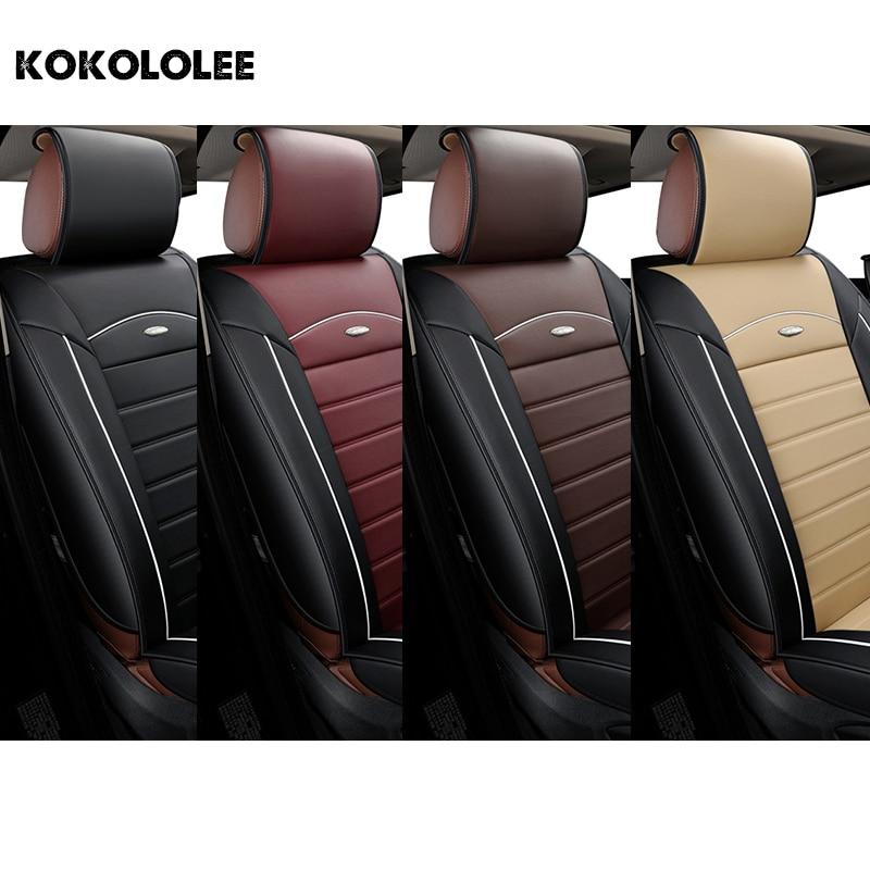 [Kokololee] pu cuir housse de siège de voiture Pour peugeot 206 307 308 408 508 ford focus 2 3 bmw e46 e36 e30 kia ceed auto accessoires