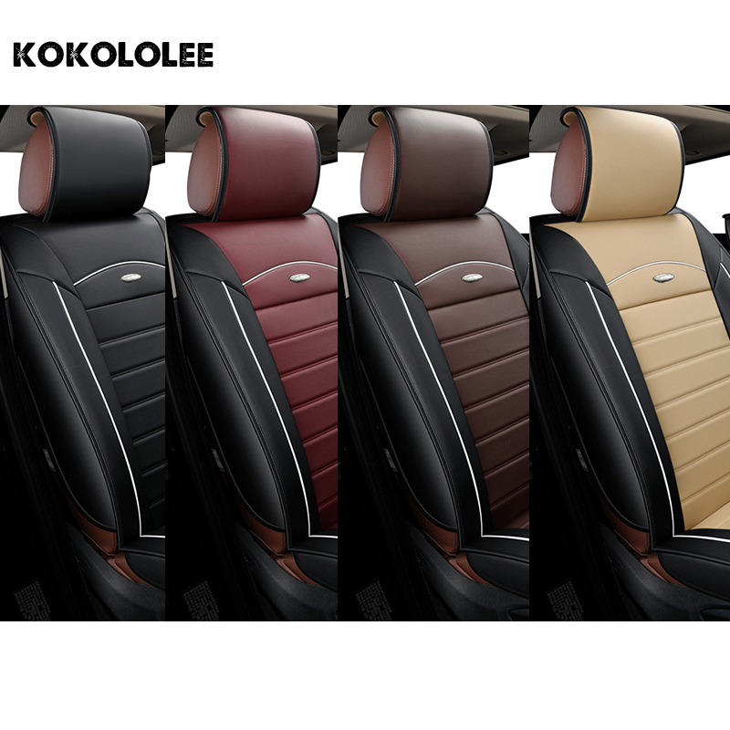 [kokololee] pu leather car seat cover For peugeot 206 307 308 408 508 ford focus 2 3 bmw e46 e36 e30 kia ceed auto accessories car travel auto car seat cover set for seat ibiza kia ceed bmw e46 e36 hyundai solaris renault logan car accessories car styling