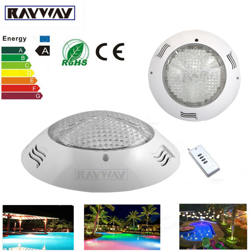 Rayway High Quality IP65 Wall mounted 54W RGB 18leds AC/DC 12V swimming pool light Pond Fountain Underwater Waterproof Lamp quality dinosaur pattern broken wall shape 3d removeable wall sticker