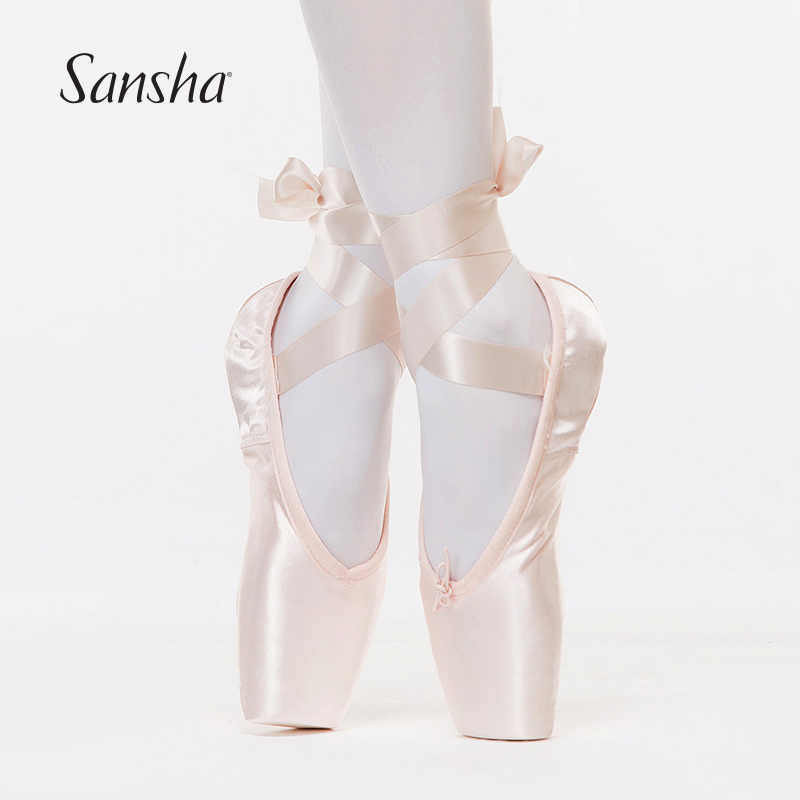Sansha Adult Kids Ballet Pointe Shoes Pink Black Red Satin Girls Women Professional Dance Shoes With Ribbons Silicone Toe Pad Sp Ballet Pointe Ballet Shoesballet Pointe Shoes Aliexpress