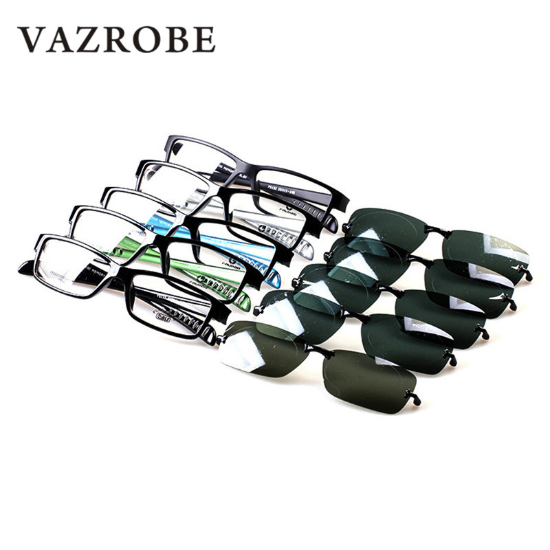 b788eab3da Vazrobe TR90 Clip on Polarized Sunglasses Men Sport Style Sun Glasses with  Double Lens Anti Glare UV400 Myopia Eyewear for Man-in Sunglasses from  Apparel ...