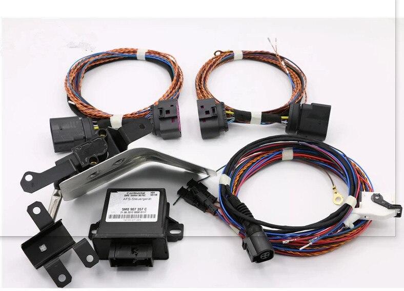 Xenon Headlight Auto Leveling Sensor+ harness CABLE+ Range Headlight Cornering AFS Module Kit FOR VW Volkswagen Golf VI 6 GTI