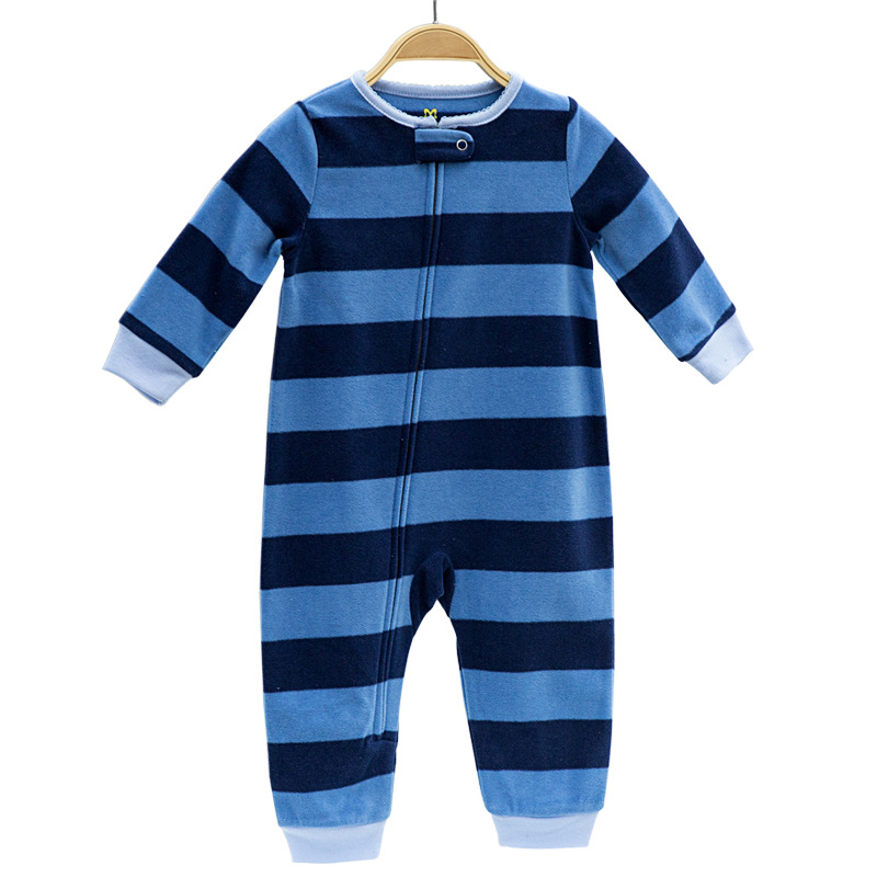 2018 Spring baby clothing Infant Outfit Clothes overall fleece outwear boys pajamas zipper Costumes baby girls jumpsuit   romper