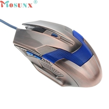 Ecosin2 Mosunx 2017 Luxury 2000DPI Optical Adjustable Wired Gaming Mouse For Laptop PC 17mar16