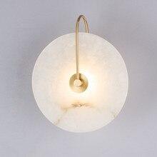 الحديثة الرخام وحدة إضاءة LED جداريّة مصباح شخصية لوحة على الحائط لتزيين المنزل 220 فولت السرير غرفة نوم الممر جدار الشمعدان سطح جبل شحن مجاني