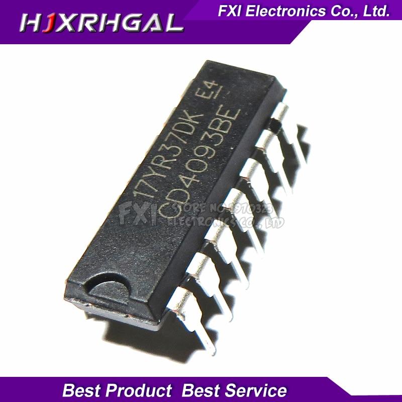 10PCS CD4093BE DIP14 CD4093 DIP New Original