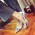 Diseñadores de zapatos de las mujeres 2016 bombas de la boda zapatos de tacón alto sandalias atractivas de las mujeres bomba de la bomba de las señoras de moda dedo del pie acentuado del partido zapatos