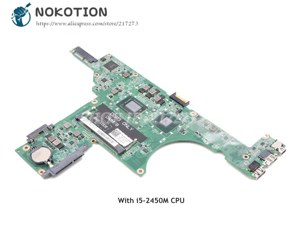 NOKOTION For Dell Inspiron 14Z N411Z Laptop Motherboard DA0R05MB8D2 085MW9 CN-085MW9 MAIN BOARD <font><b>I5</b></font>-<font><b>2450M</b></font> CPU DDR3 image