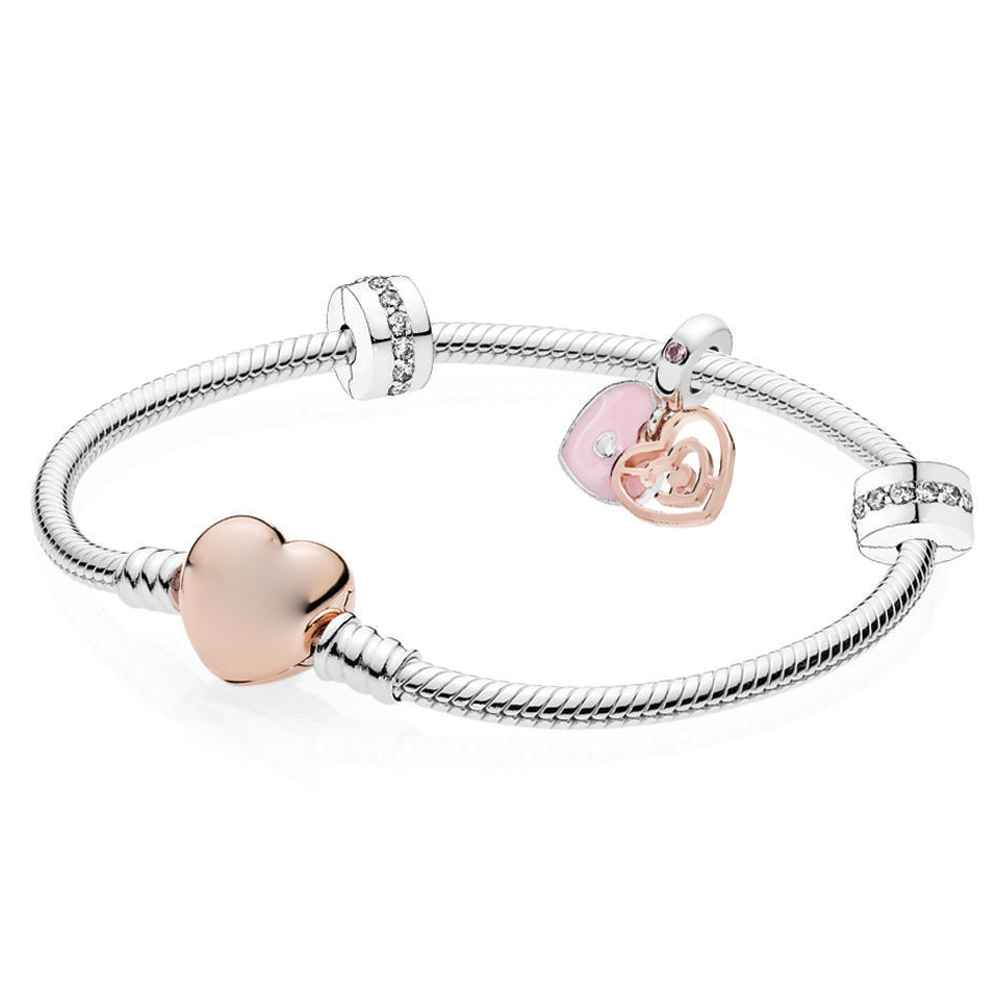 925 Sterling Silver Heart Bracelet Great Valentine/'s Day Gift